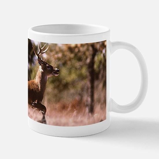 White-Tail Deer Running Mugs