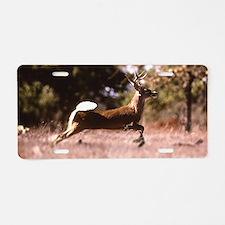 White-Tail Deer Running Aluminum License Plate