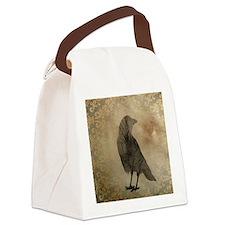 Vintage Corvidae Canvas Lunch Bag
