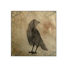 "Vintage Corvidae Square Sticker 3"" x 3"""