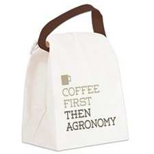 Coffee Then Agronomy Canvas Lunch Bag