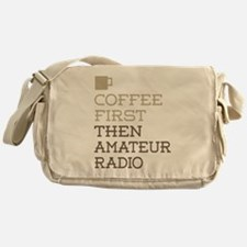 Coffee Then Amateur Radio Messenger Bag