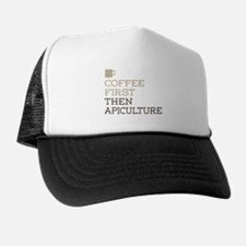Coffee Then Apiculture Trucker Hat