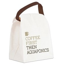 Coffee Then Aquaponics Canvas Lunch Bag