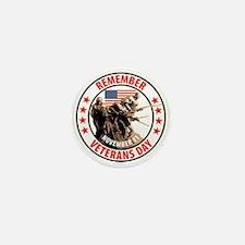 Remember Veterans Day, November 11 Mini Button (10