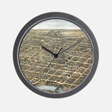 Vintage Pictorial Map of Dayton Ohio (1 Wall Clock