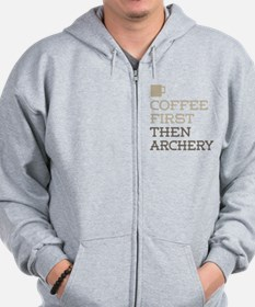 Coffee Then Archery Zip Hoodie