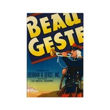 Beau Geste Vintage Crate Labe Rectangle Magnet