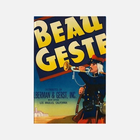Beau Geste Vintage Crate Labe Rectangle Magnet