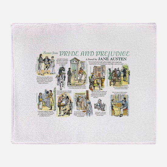 Scenes from Pride and Prejudice Throw Blanket