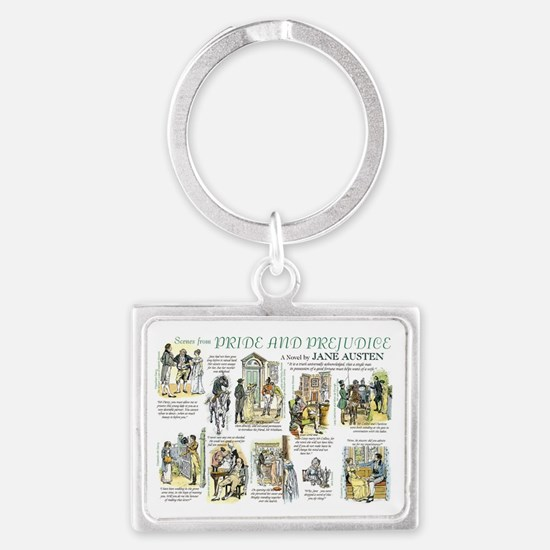 Scenes from Pride and Prejudice Keychains