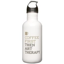 Coffee Then Art Therap Sports Water Bottle