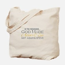 Adam and Steve Tote Bag