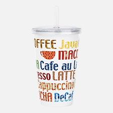 Coffe collage Acrylic Double-wall Tumbler