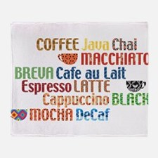 Coffe collage Throw Blanket