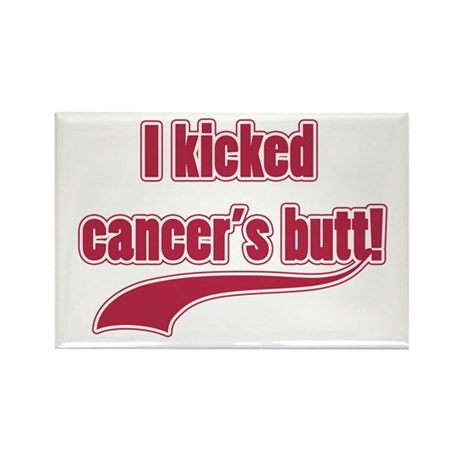 I Kicked Cancer's Butt! Rectangle Magnet (100 pack