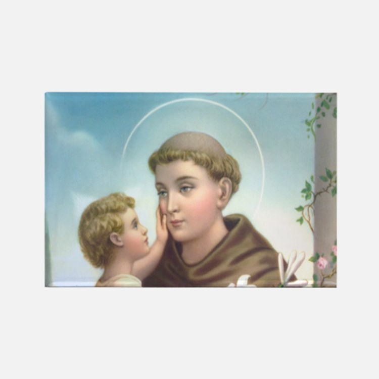 Cute St anthony Rectangle Magnet