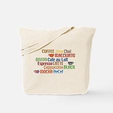 Coffe collage Tote Bag