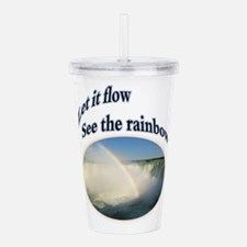 let it flow see the rainbow Acrylic Double-wall Tu
