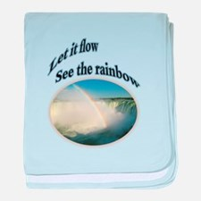 let it flow see the rainbow baby blanket