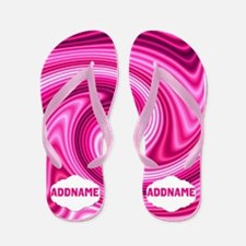 Abstract Pink Flip Flops