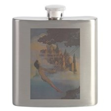 Dinky Bird by Maxfield Parrish Flask