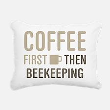 Coffee Then Beekeeping Rectangular Canvas Pillow