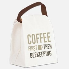 Coffee Then Beekeeping Canvas Lunch Bag