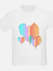 Three Hearts Valentines Kids T-Shirt