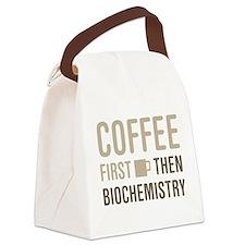 Coffee Then Biochemistry Canvas Lunch Bag
