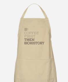 Coffee Then Biohistory Apron