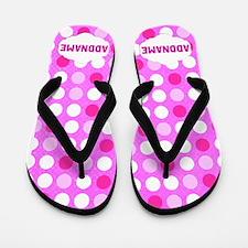 Pink Polka Dot Flip Flops