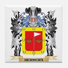 Herrera Coat of Arms - Family Crest Tile Coaster