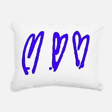 Unique Stick man Rectangular Canvas Pillow