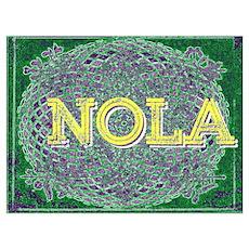 NOLA Elegant Green Purple Gold Egg Poster