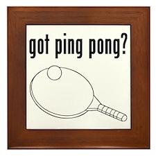 Got Ping Pong Framed Tile