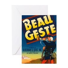 Beau Geste Vintage Crate Labe Greeting Card