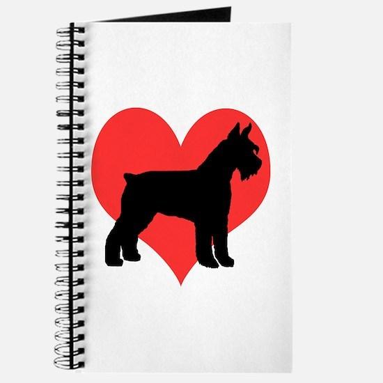 Red Heart Schnauzer Journal