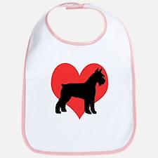 Red Heart Schnauzer Bib