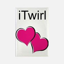 iTwirl Baton Rectangle Magnet