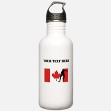 Speed Skater Canadian Flag Water Bottle