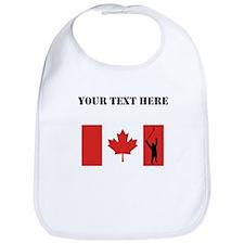 Hockey Player Canadian Flag Bib