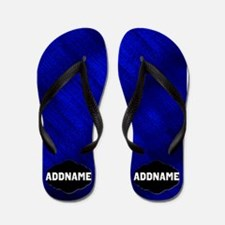 Blue And Black Flip Flops