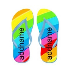 Rainbow Love Flip Flops