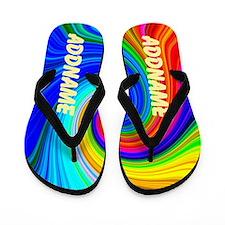 Blue Pop Art Flip Flops