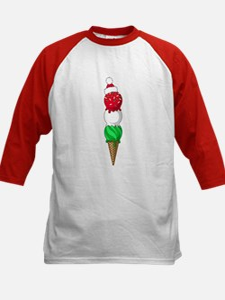 Christmas Ice Cream Kids Baseball Jersey