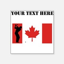 Golf Shot Canadian Flag Sticker