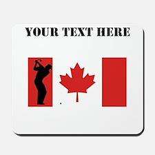 Golf Shot Canadian Flag Mousepad
