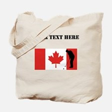 Golfer Putting Canadian Flag Tote Bag