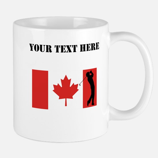 Golfer Canadian Flag Mugs